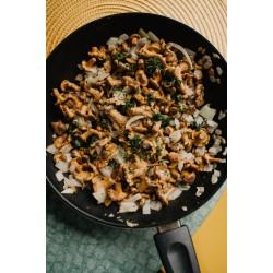 Strogonoff vegano de cogumelos e arroz integral com beterraba